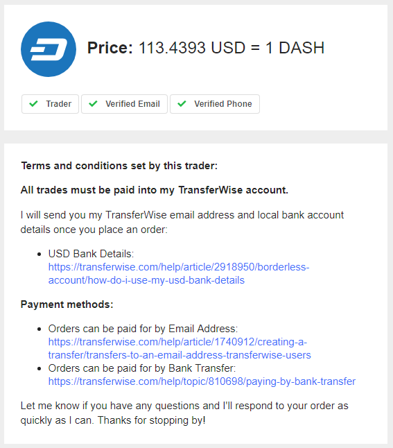 LocalCoinSwap Initiated Trade